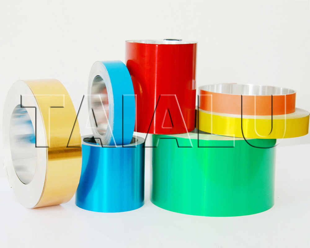 Colored Lacquered Coated Aluminum Foil Strip PP cap