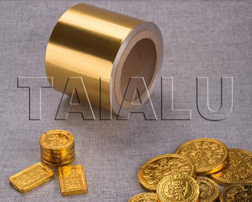 Golden Chocolate Coins Foil Wrapping Aluminium Foil