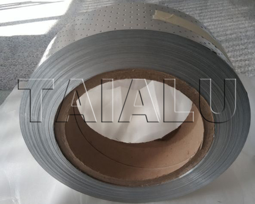 Perforated aluminum strip for PPR-AL-PPR pipe